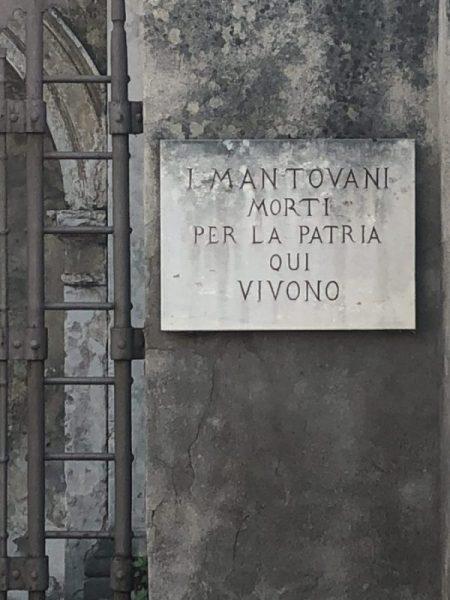 iscrizione su portale nei pressi di palazzo te