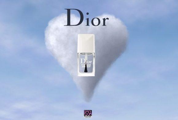 Dior top coat - per foto sullo sfondo credit @95C