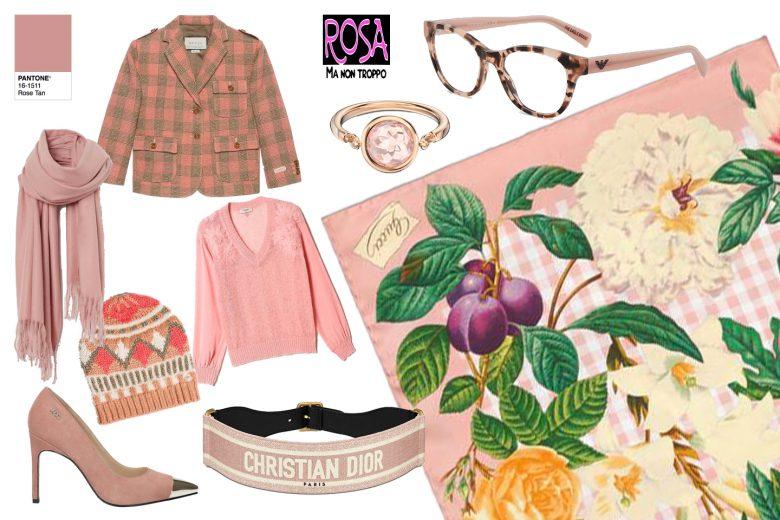 rose tan collage