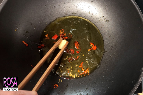 togli l'aglio a fine cottura