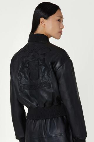 trussardi giacca pelle