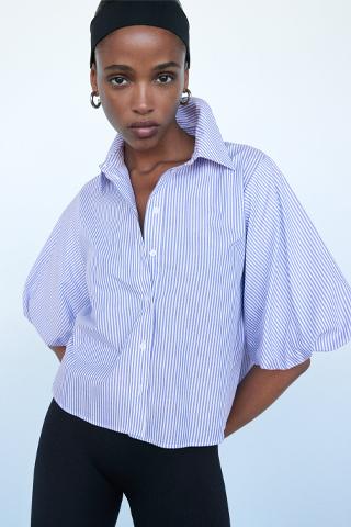 Zara camicia maniche a palloncino