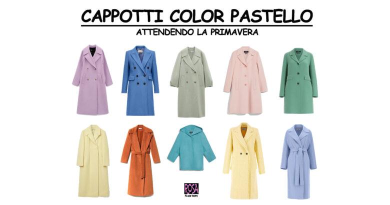 cappotti color pastello attendendo la primavera